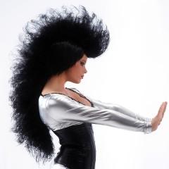 Περούκα Punk Μοϊκάνα Μαύρη