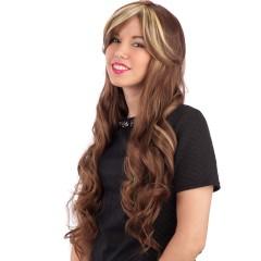 Περούκα Deluxe με Φράvτζα και Ανταύγιες