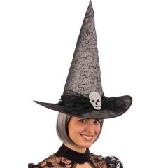 Καπέλο Μάγισσας Με Νεκροκεφαλή