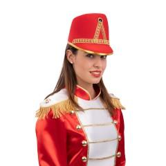 Καπέλο Μαζορέτας -Αξιωματικού Στρατιώτη Κόκκινο
