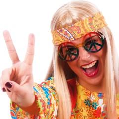 Γυαλιά Hippie με Σήμα Ειρήνης χρωματιστά