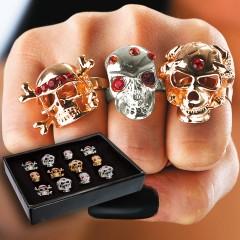 Δαχτυλίδι Μεταλλικό Νεκροκεφαλή