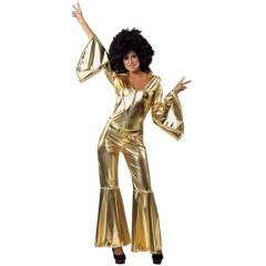 Mama Mia γυναικεία χρυσή στολή ενηλίκων