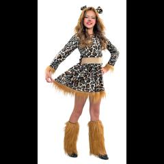 Λεοπάρδαλη αποκριάτικη στολή για κορίτσια