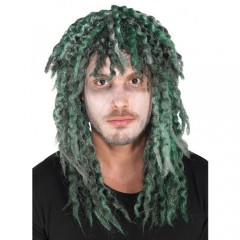 Περούκα Ζόμπι rasta με πράσινες αποχρώσεις