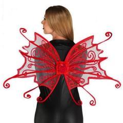 Φτερά πλάτης για πεταλούδα κόκκινα