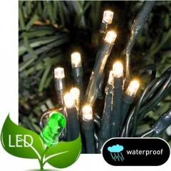 100 Λαμπάκια LED Επεκτεινόμενα Χωρίς  Μετασχηματιστή Πράσινο καλώδιο Λευκό θερμό soft  λαμπάκι