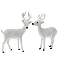 Ταρανδάκια λευκά ύψος 37cm διακοσμητικά σε δύο σχέδια