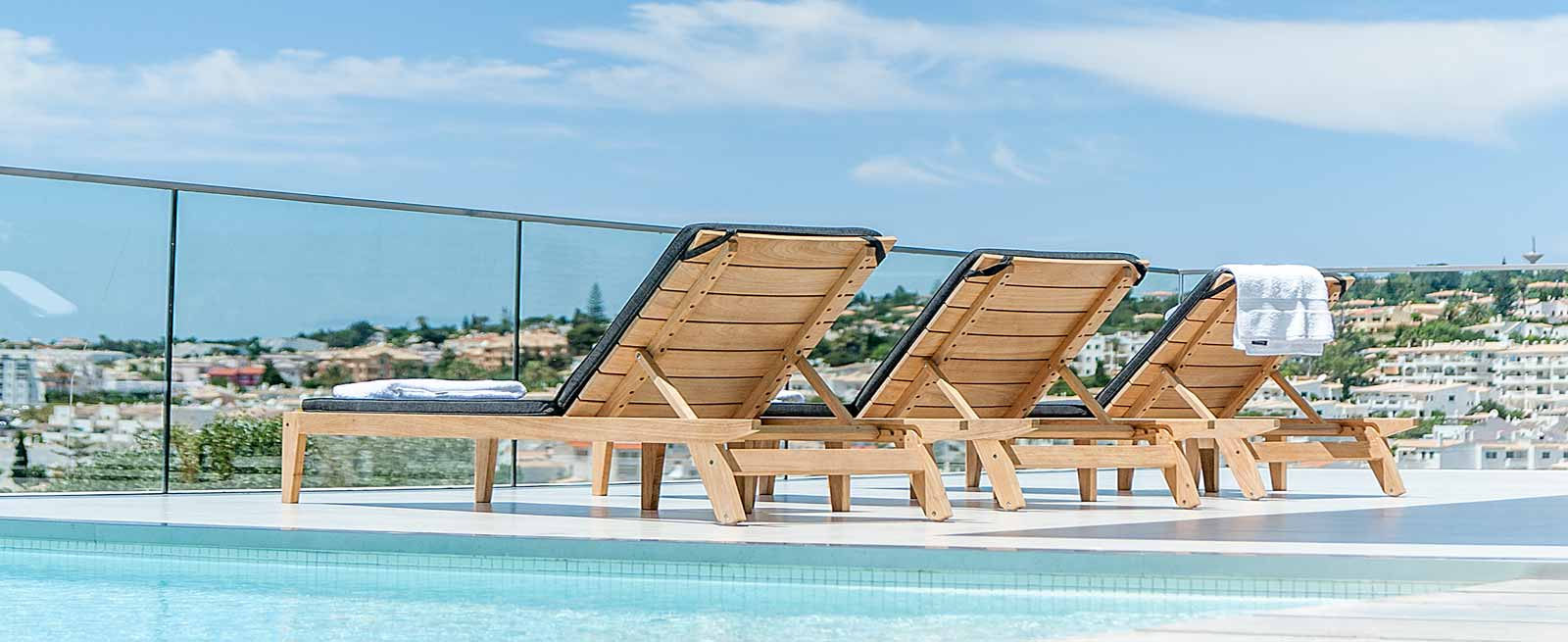 Loungers for garden or pool